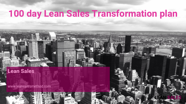 100 day Lean Sales Transformation plan