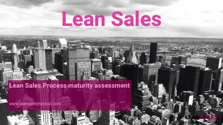 Lean Sales – process maturity assessment
