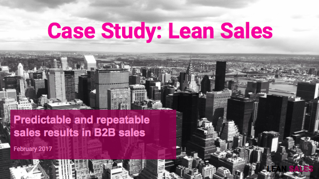 Case Study: Improve hit rate by +20 % in solution selling with Lean Sales